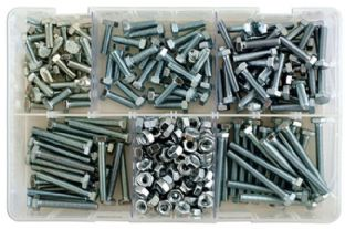 Connect 35010 295 Piece Assorted M6 Setscrews & Nuts Box